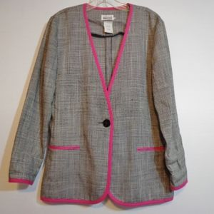 True 90s Vintage Pink Detail Blazer Jacket